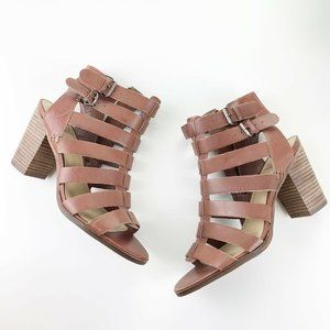 Vince Camuto Leather Gladiator Strappy Heels